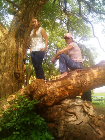 Stinkerbelle and me in tree